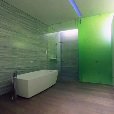 Glastür Badezimmer